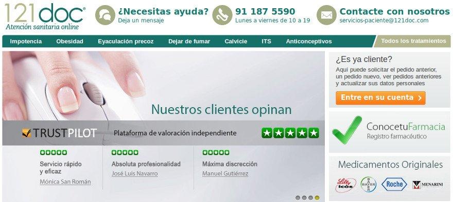 Clínica y farmacia online 121doc para la venta de medicamentos en Internet