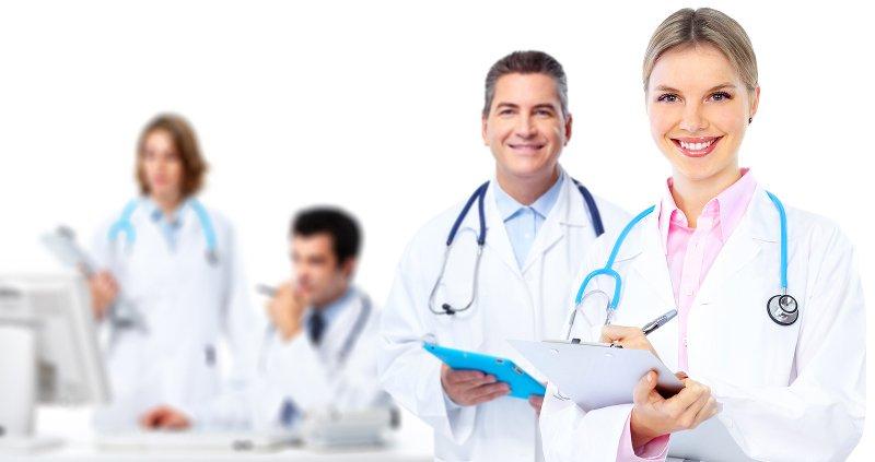 Clínica médica para una consulta y una receta online