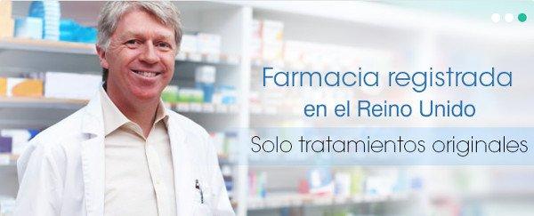Esta farmacia autorizada y regulada, con sede en el Reino Unido, le enviará su tratamiento