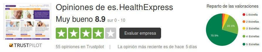 Las opiniones de los consumidores y de los clientes dan testimonio de la seriedad y profesionalidad de HealthExpress