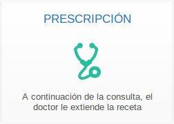 Con la prescripción del médico : el doctor extiende la receta