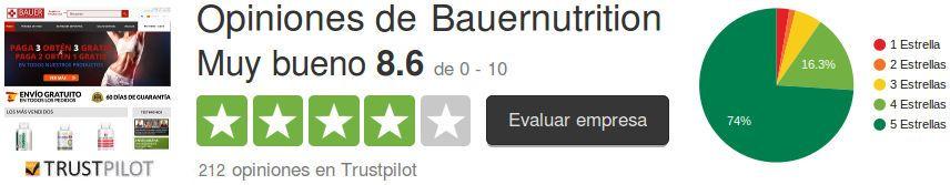 Bauer Nutrition opiniónes de clientes de la tienda online