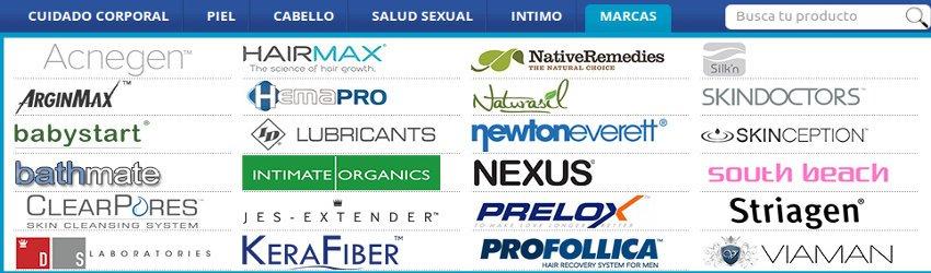Marcas referenciadas y comercializadas en la tienda online Shytobuy