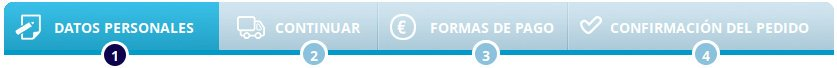 Proceso de pedido sencillo e intuitivo para los envíos y pagos