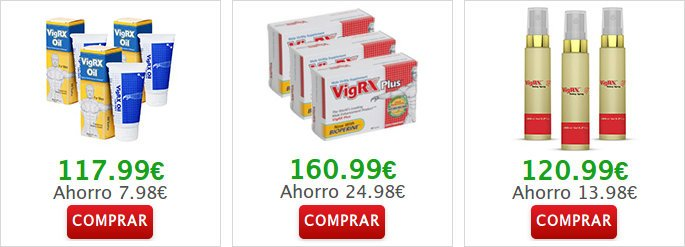 Otros productos encontrar VigRX Plus: vigrx oil y spray