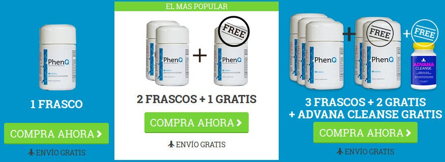 Diferentes opciones de pastillas phenq para quemar grasa