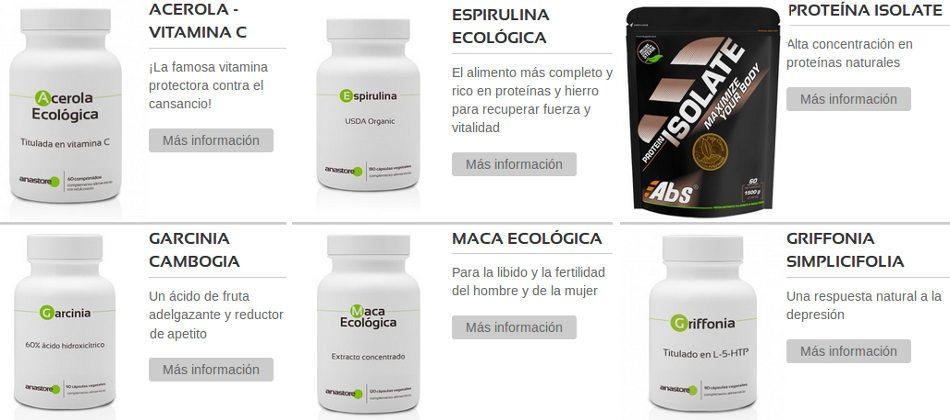 recomendaciones y mejores ventas de productos en Anastore entre los españoles
