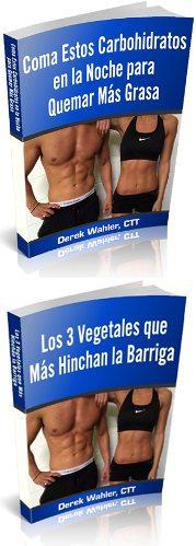 Dos libros sobre salud ofrecidos en el programa limpiador vientre plano y el agua roja