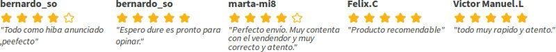 Comentarios y opiniones de clientes de manomano.es que testifican tras su compra en la tienda española