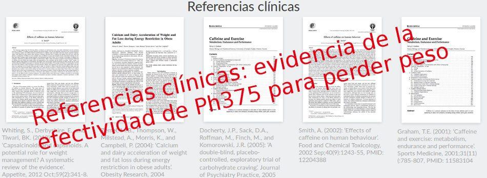 Evidencia científica de la eficacia y seriedad de Ph375