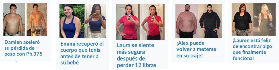 Foto antes / después de comprar y consumir cápsulas de ph375: testimonios reales