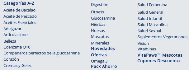 Categorías que tienen productos Simplysupplements para la salud de tu cuerpo