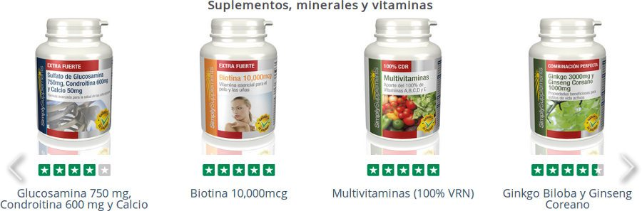 Simplysupplements ofrece una amplia selección de suplementos, minerales y vitaminas para mejorar su salud