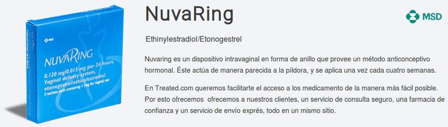 Comprar Nuvaring anillo anticonceptivo vaginal en España: obtener el mejor precio