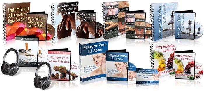 Colección de libros PDF Lucas David Serrano en su método Milagro para el acné en español