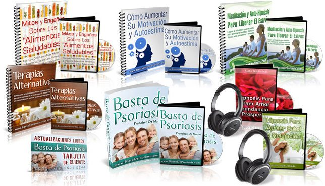 Programa de Basta de Psoriasis y libros de bonificación ofrecidos por el autor