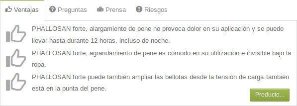 Phallosan Forte España: descripción, precios y opiniones